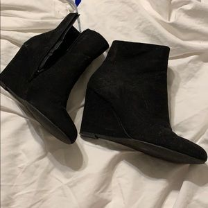 Christian Siriano Payless Faux Suede Wedge Booties